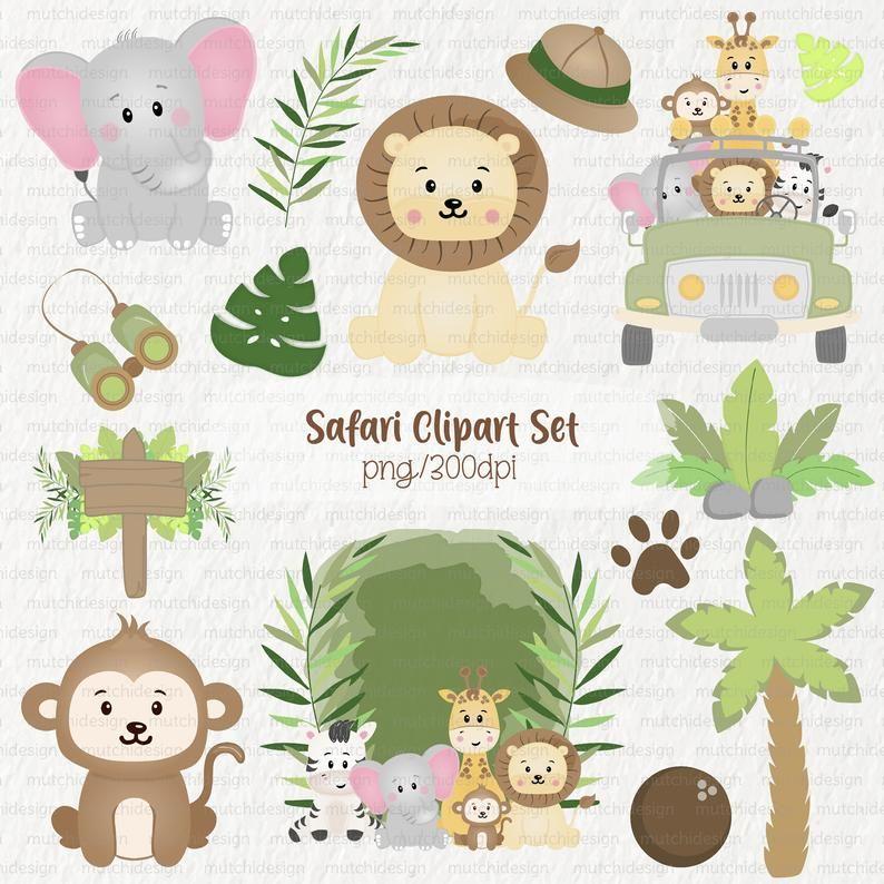 Safari Animals Clipart Png Safari Animals Jungle Etsy Cute Animal Clipart Safari Animals Clip Art