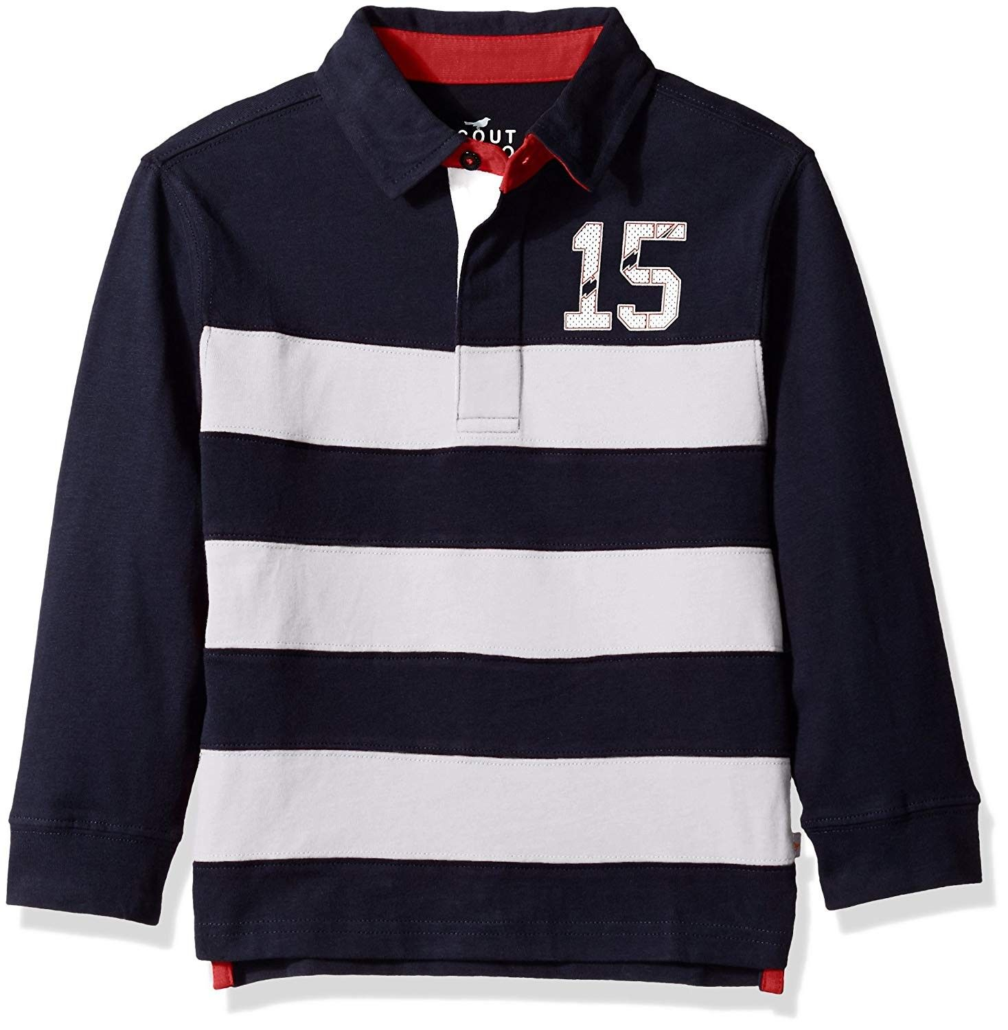 Boys Long Sleeve Stripe Rugby Shirt Swim Navy White Ct12dp9mwzp Boys Long Sleeve Rugby Shirt Boys Clothes Online