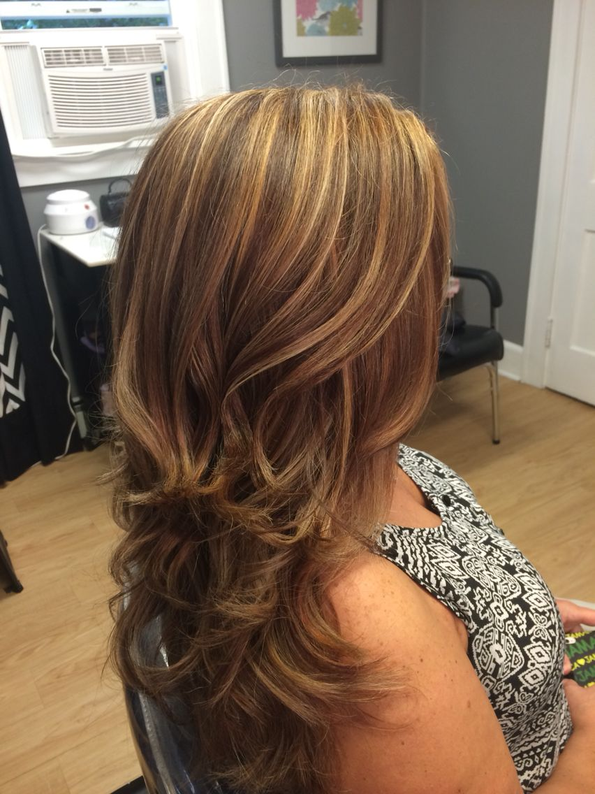 Dimensional highlights and lowlights. Dimensional hair