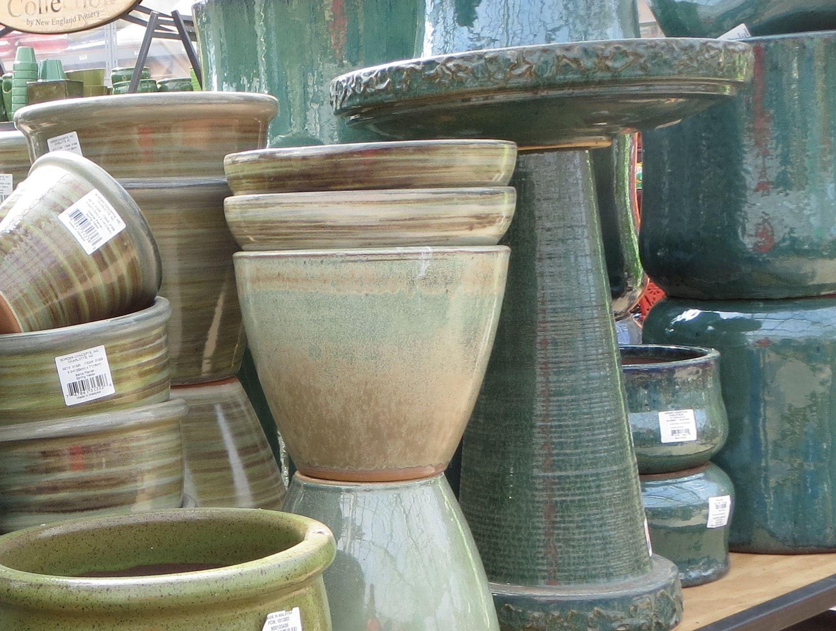 Bristol's Garden Center (Victor, NY) has new pottery and