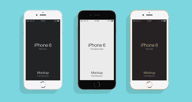 Flat Psd Iphone 6 6s Mockup Psd Mock Up Templates Pixeden Iphone Iphone 6 Mockup