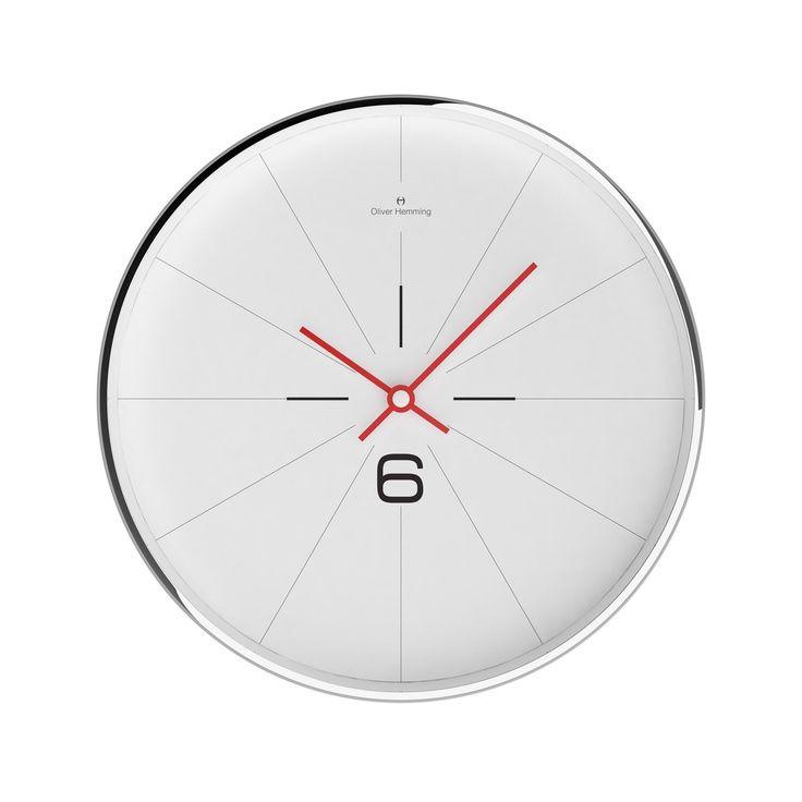 Pin By Industria Nacional Design On 1 Stop Signs Print Clock Design Wall Clock Modern Chrome Wall Clock
