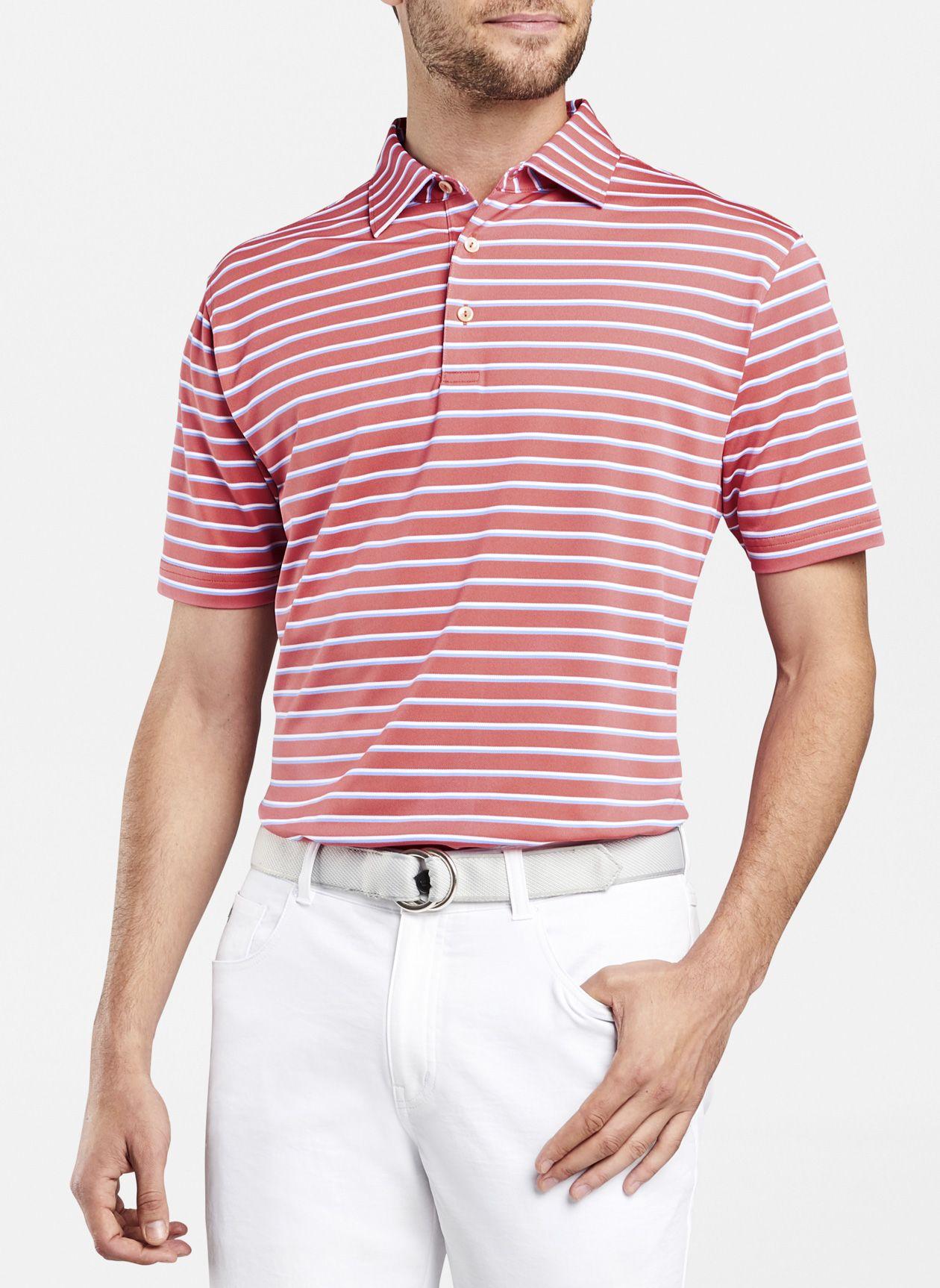 495aab2c Coley Stripe Stretch Mesh Polo | Peter Millar | Golfing in 2019 ...