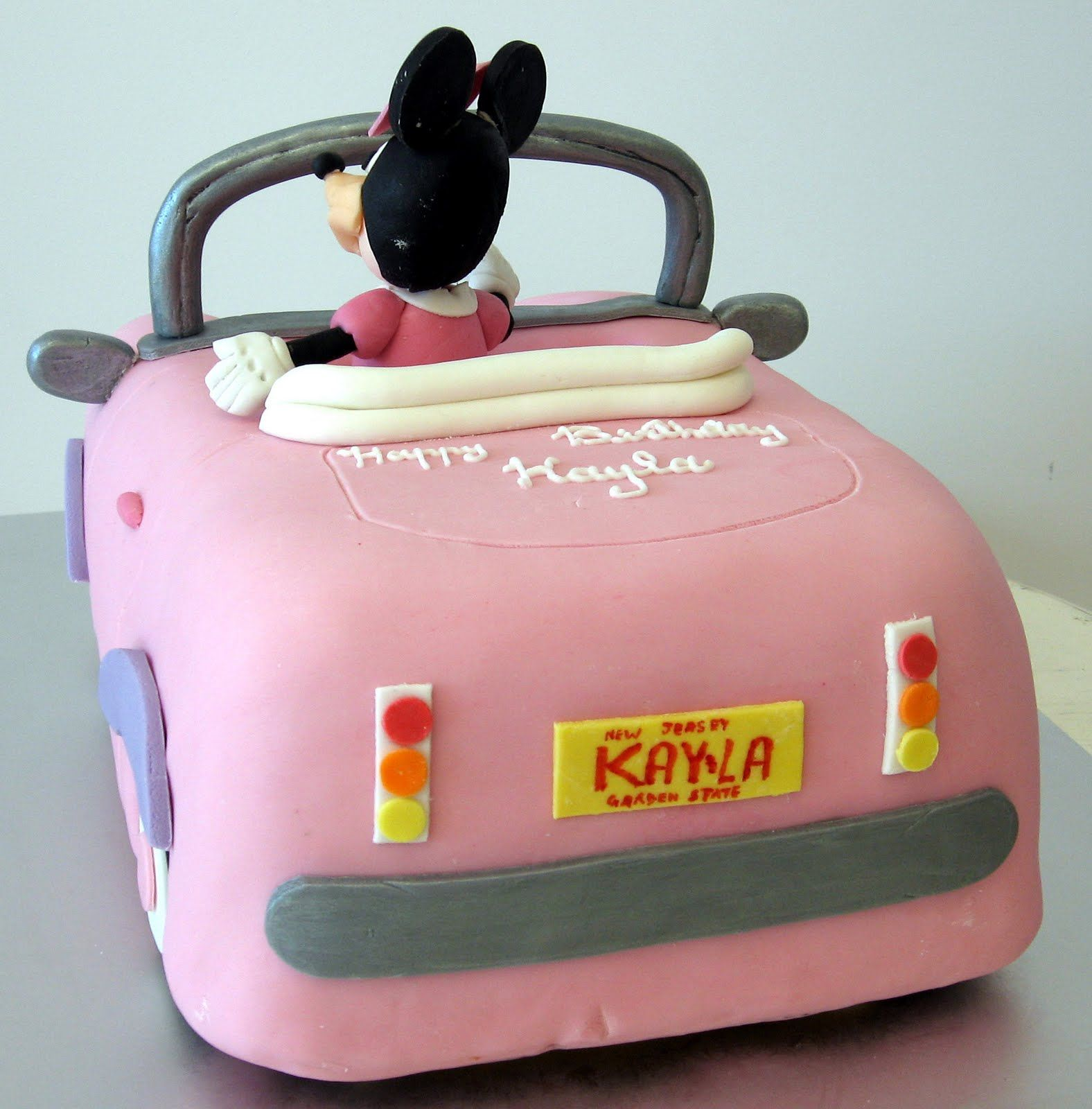 Minnie mouse cake cars birthday cake mickey mouse