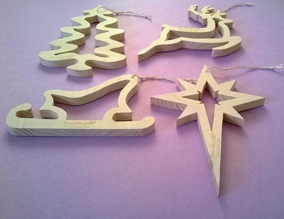 Decorazioni In Legno Per Albero Di Natale : Addobbi natalizi in legno per albero di natale decorazioni natale
