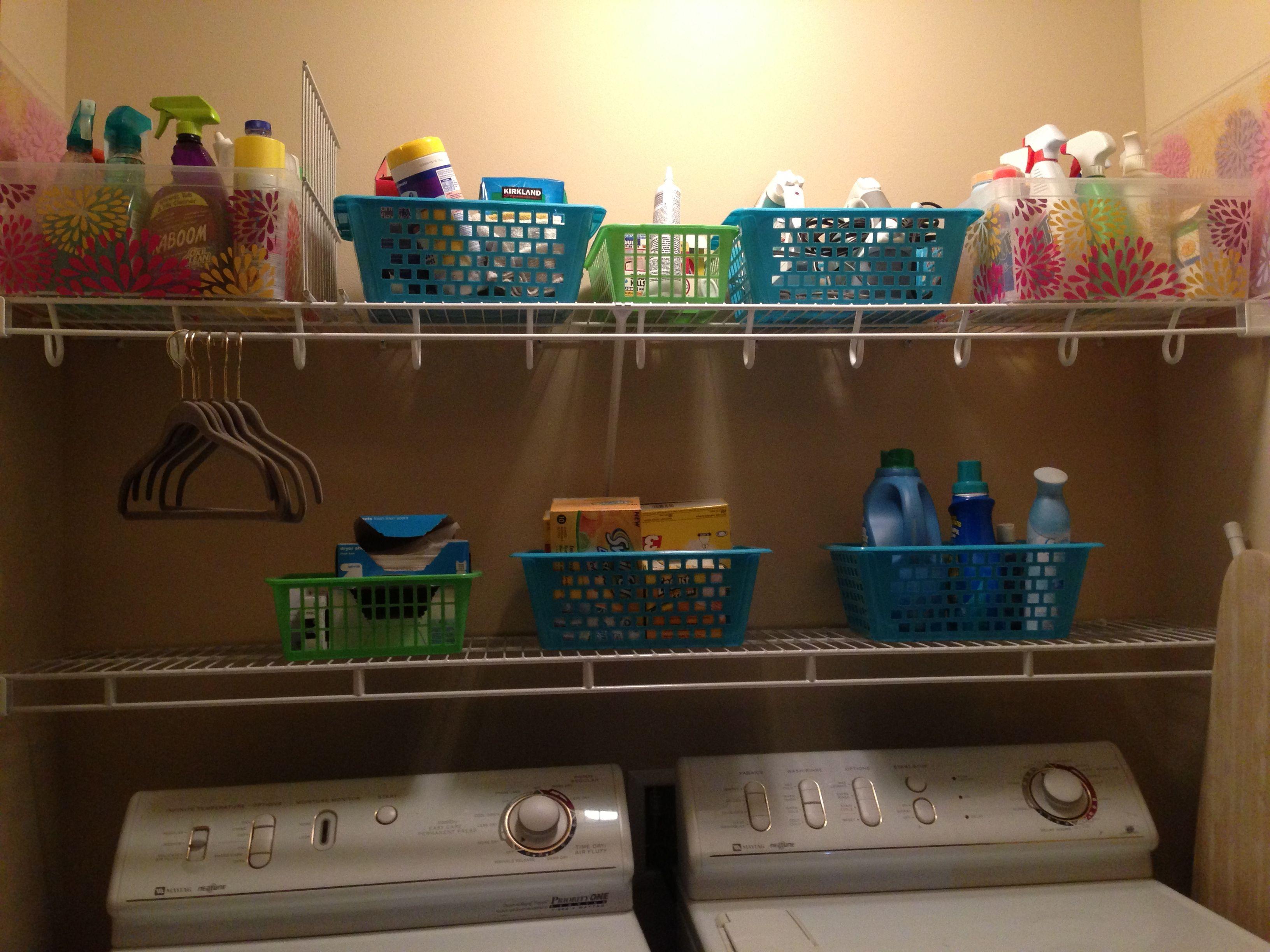 My Organized Laundry Room Laundry Room Laundry Room Makeover Laundry Room Organization