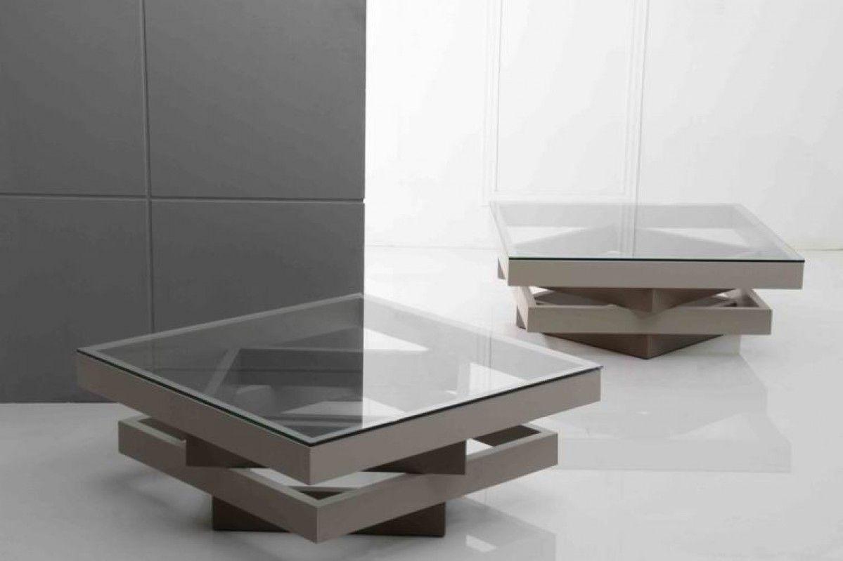 Modern 4 Layer Grey Coffee Table [ 799 x 1199 Pixel ]
