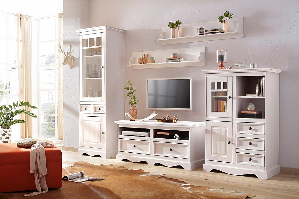 Home affaire Lowboard »Melissa«, Breite 120 cm Jetzt bestellen - landhausmöbel weiss wohnzimmer