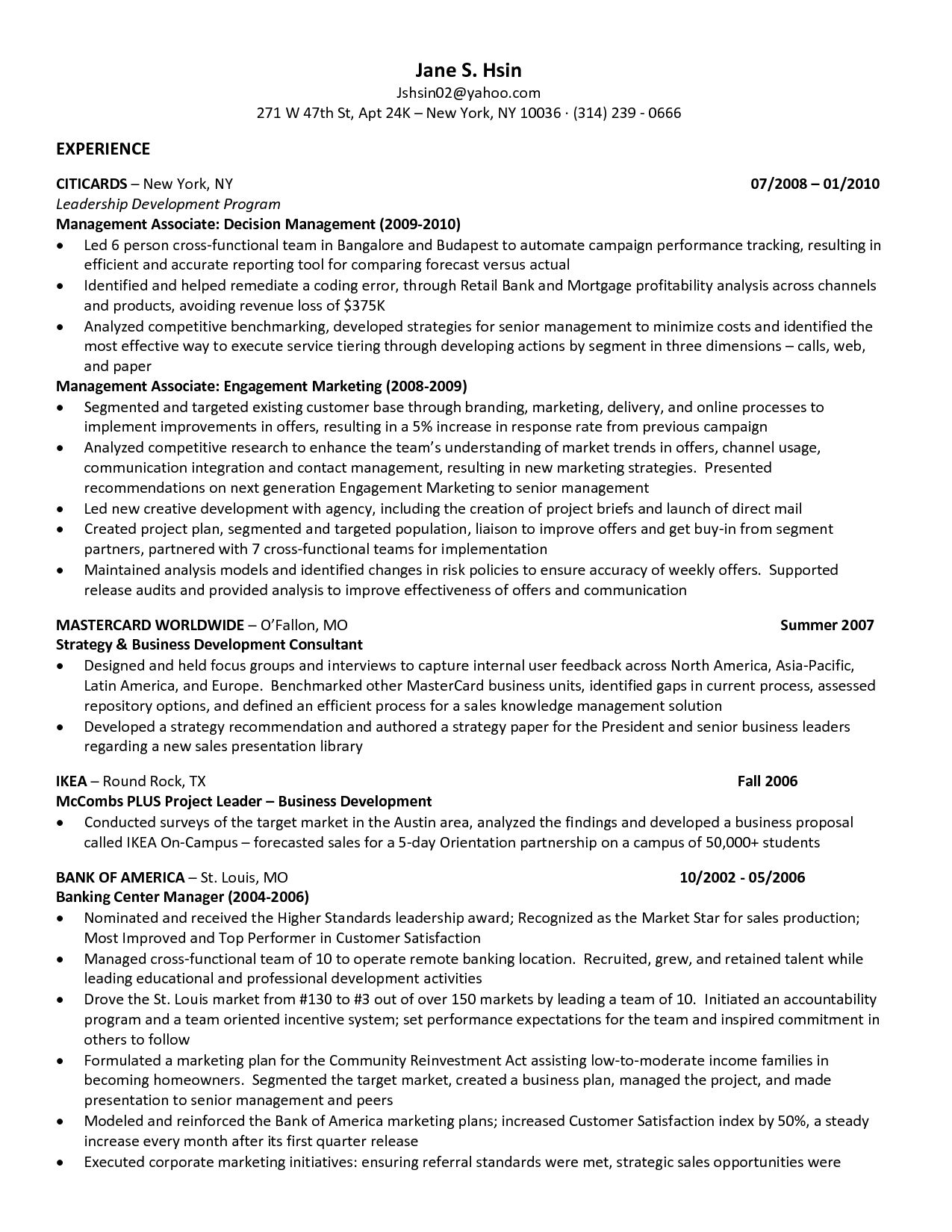 Cover Letter Template Mccombs 1 Resume Format
