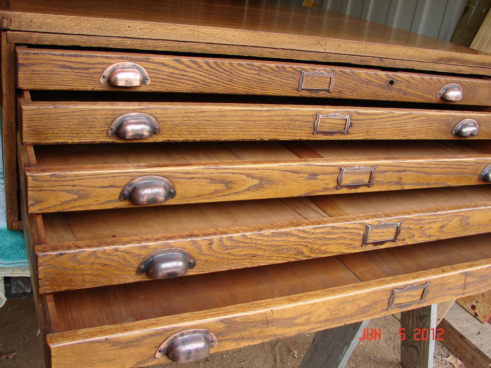 Vintage oak map architect blueprint flat file converted to vintage oak map architect blueprint flat file converted to coffee table malvernweather Image collections