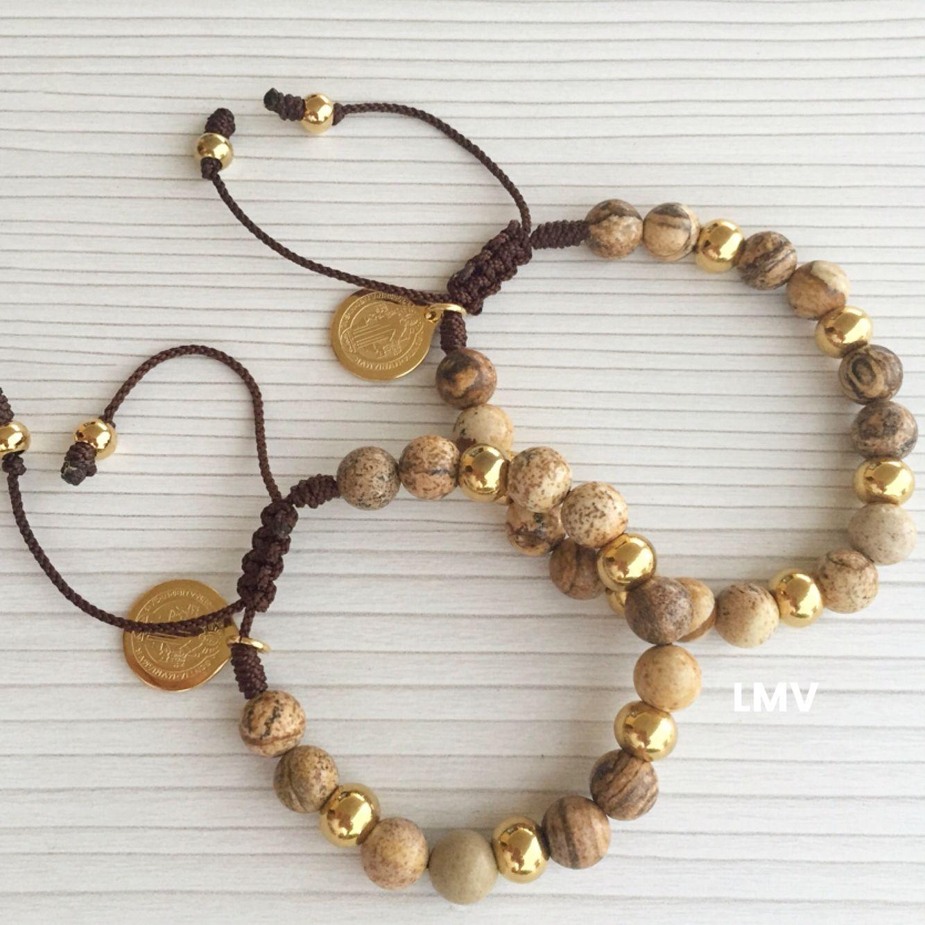 Duos para parejas, con piedras jasper by Luz Marina Valero