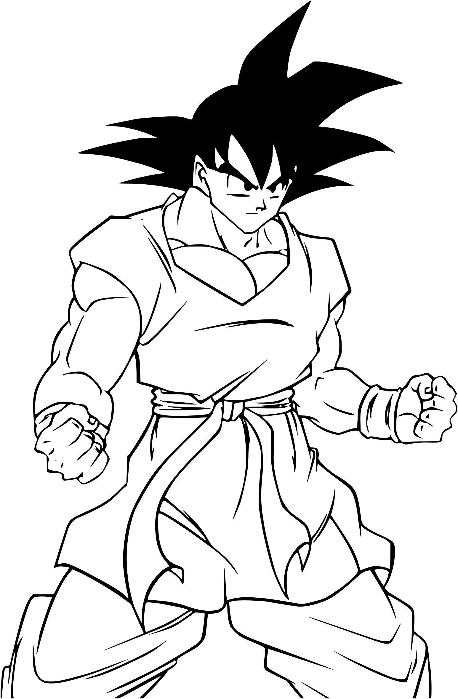 Coloriage Son Goku Dragon Ball Z A Imprimer Sur Coloriages Coloriage Dragon Coloriage Dragon Ball Coloriage Dbz
