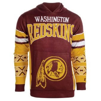 Washington Redskins Big Logo Ugly Christmas Sweater Pullover ...