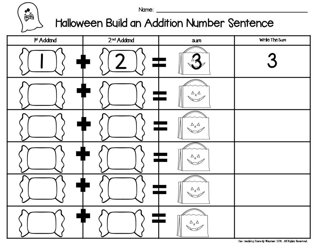 Halloween 2 Addend Addition Amp Subtraction With Ten Frames