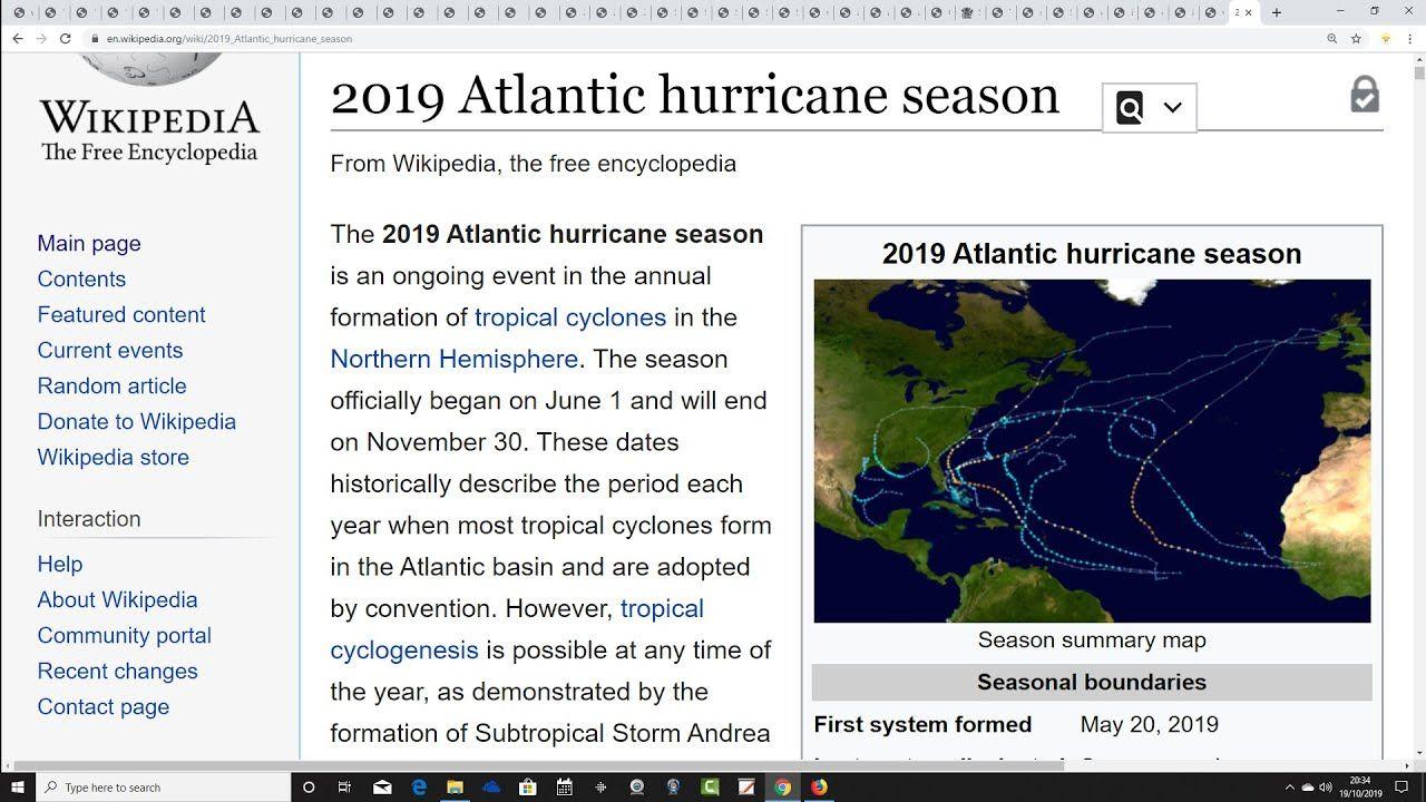 Eighth Winter 2019 20 Update Solar Activity Atlantic Hurricane Hurricane Season