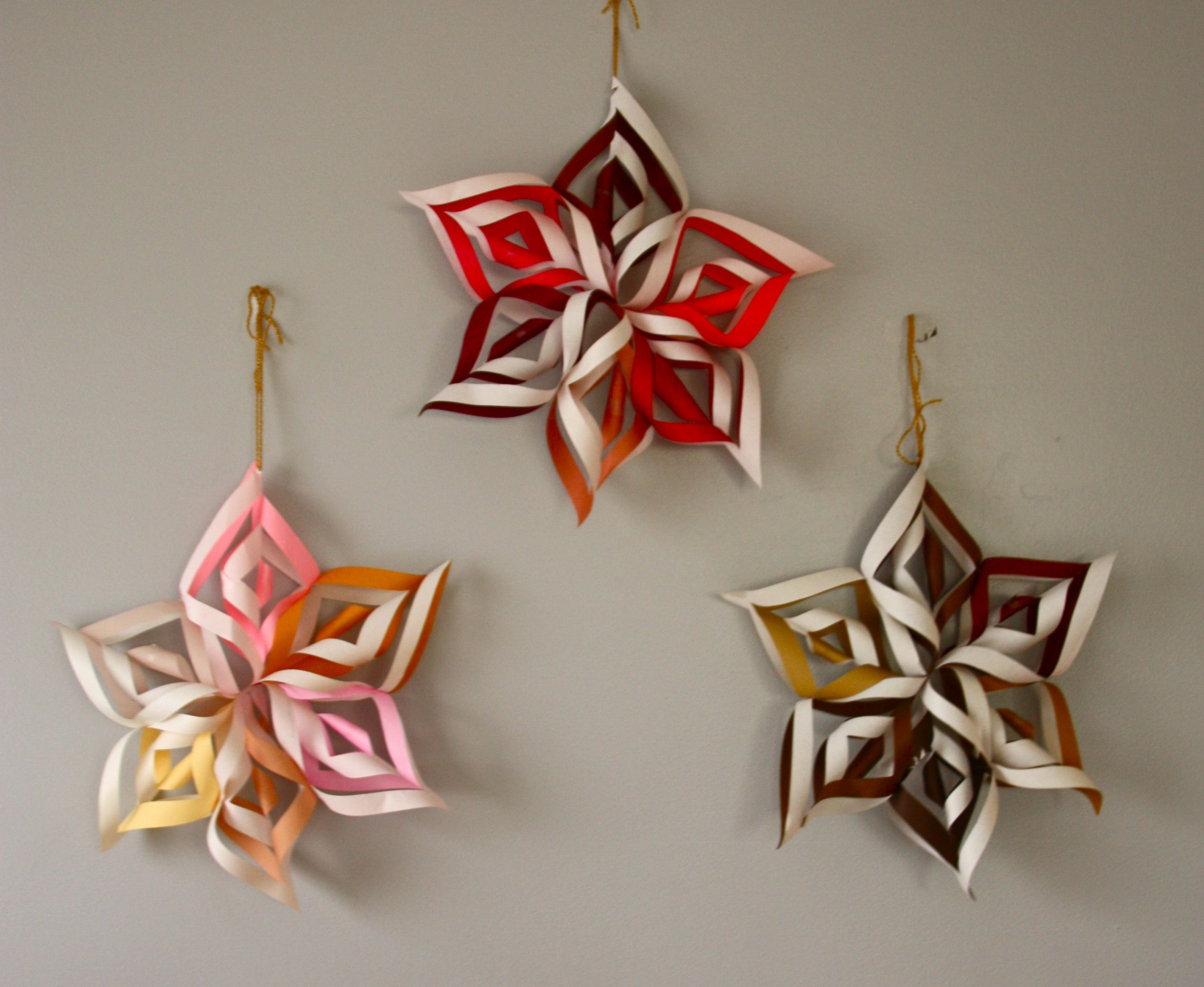 Six Pointed 3D Snowflake
