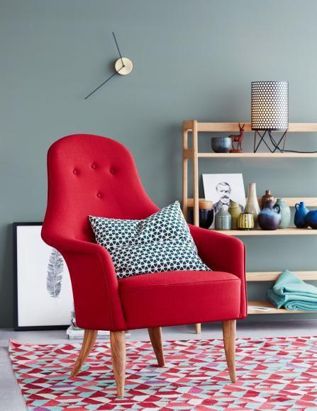 Wohnideen mit Farben - Einrichten und dekorieren mit Gelb, Blau - wohnzimmer rot gelb