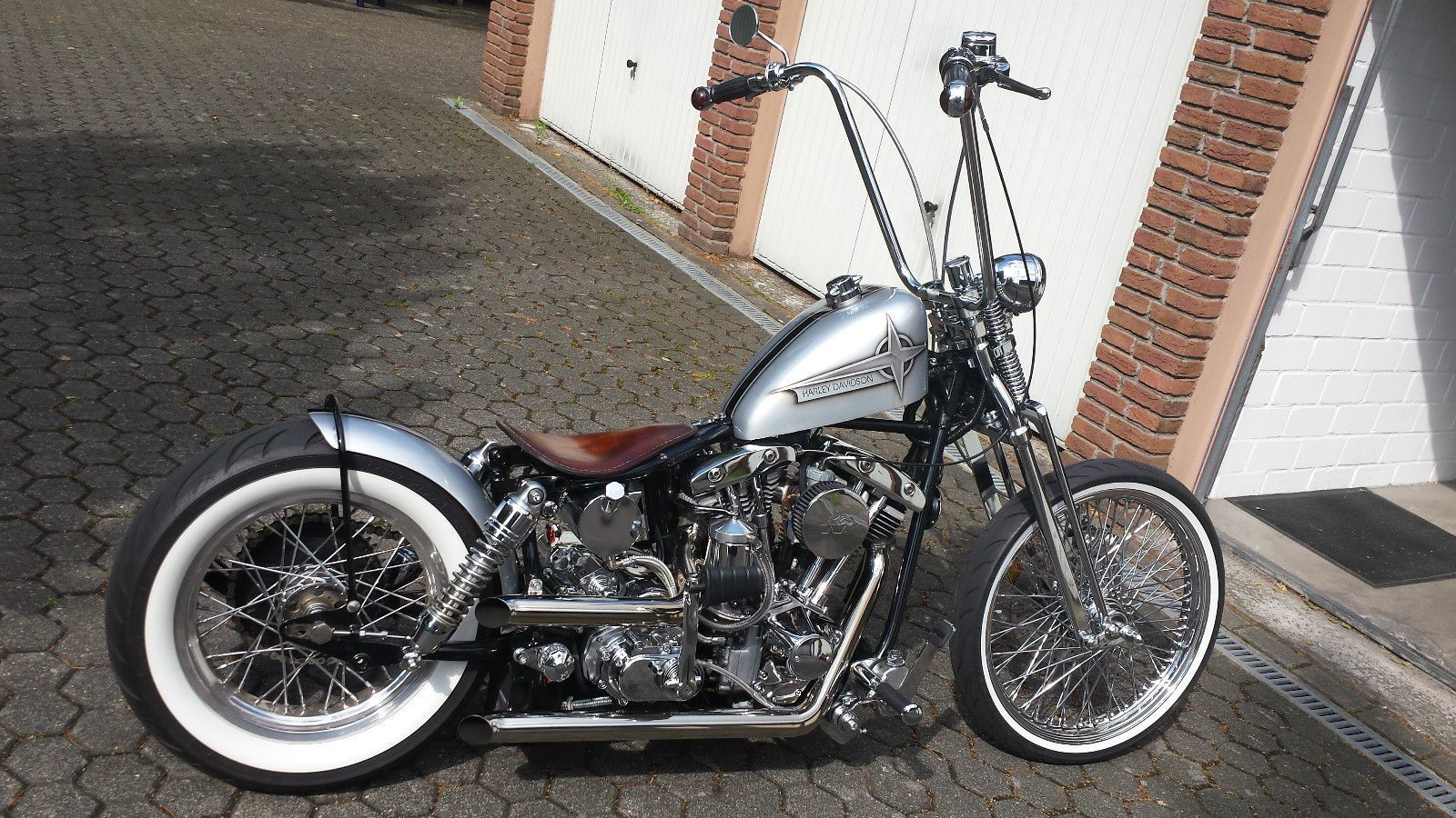 harley davidson shovelhead le pera bare bones solo sitz. Black Bedroom Furniture Sets. Home Design Ideas