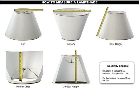 How To Measure Lampshades J Harris Pittsburgh Pa