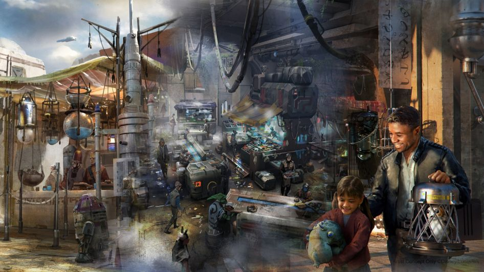 Bina S Creature Stand Star Wars Galaxy S Edge New Concept Art Star Wars Concept Art Disney Concept Art