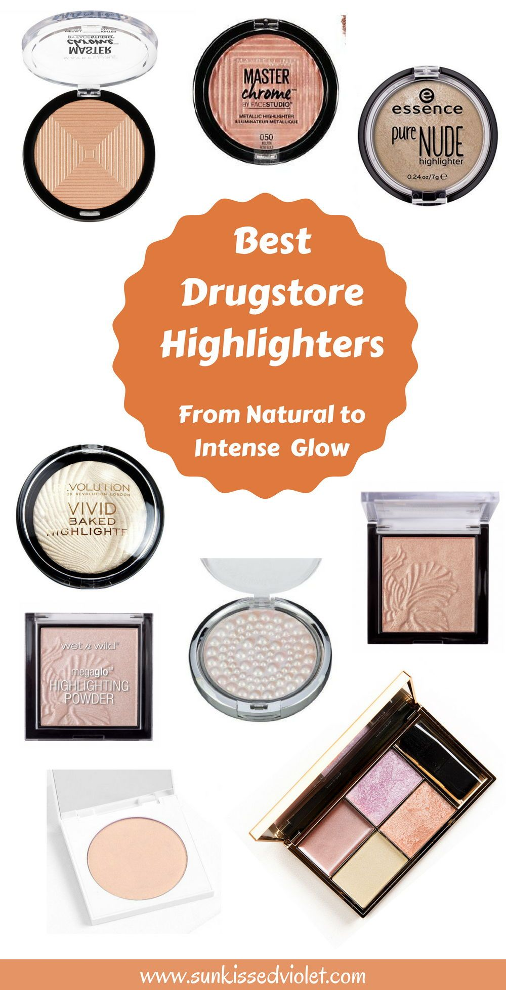 Best Drugstore Highlighters From Natural To Intense Glow Cosmetics Drugstoremakeup Highlighte Drugstore Highlighter Best Highlighter Makeup Best Highlighter