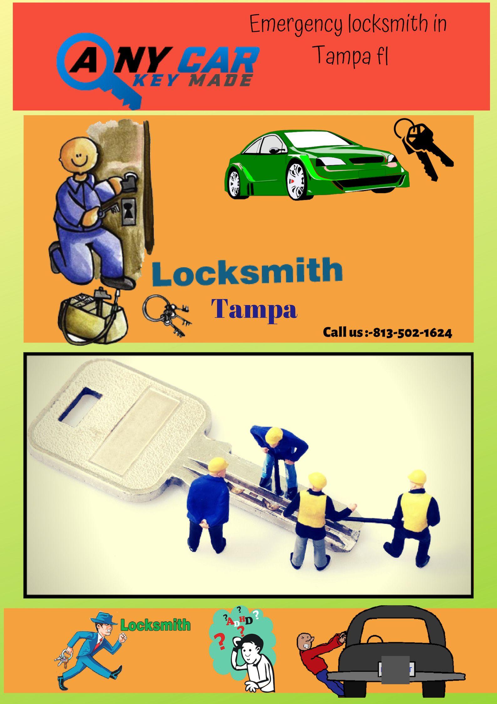 Tampa automotive car locksmith services car keys made