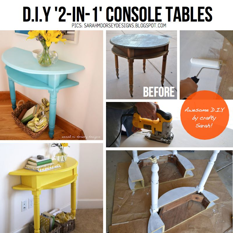 Scraphacker - 2 in 1 console tables