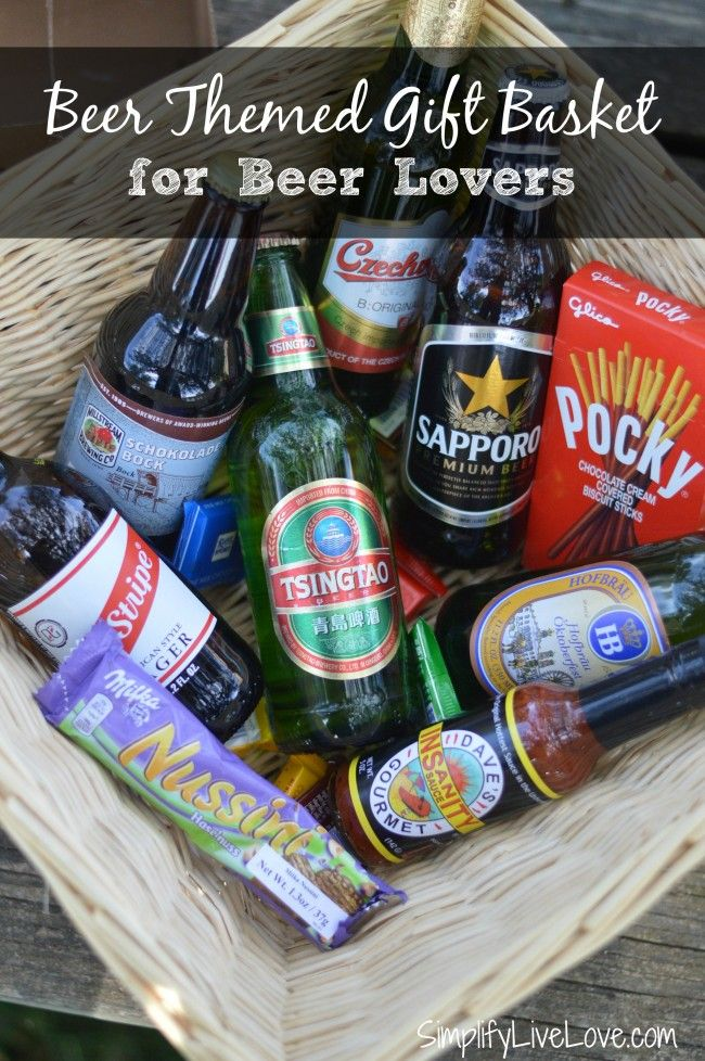 Beer Themed Gift Basket for Beer Lovers Themed gift
