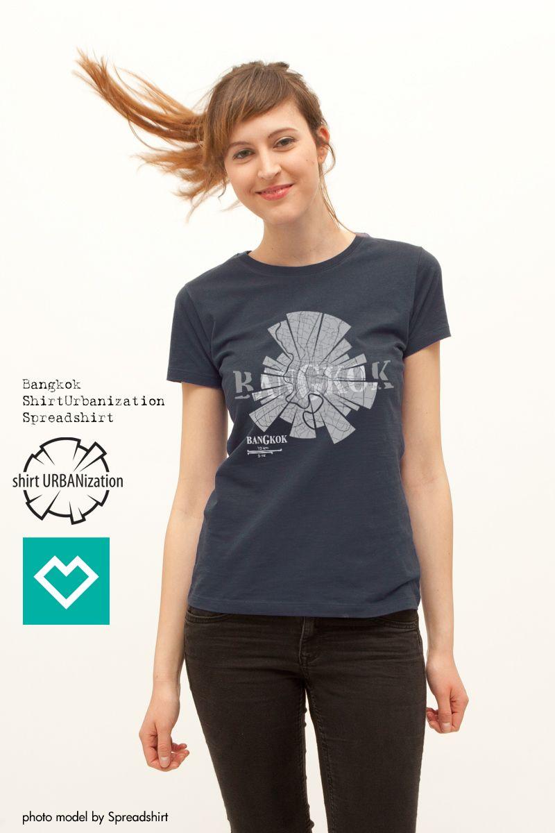 Bangkok T Shirt Navy Blue For Women By Shirt Urbanization