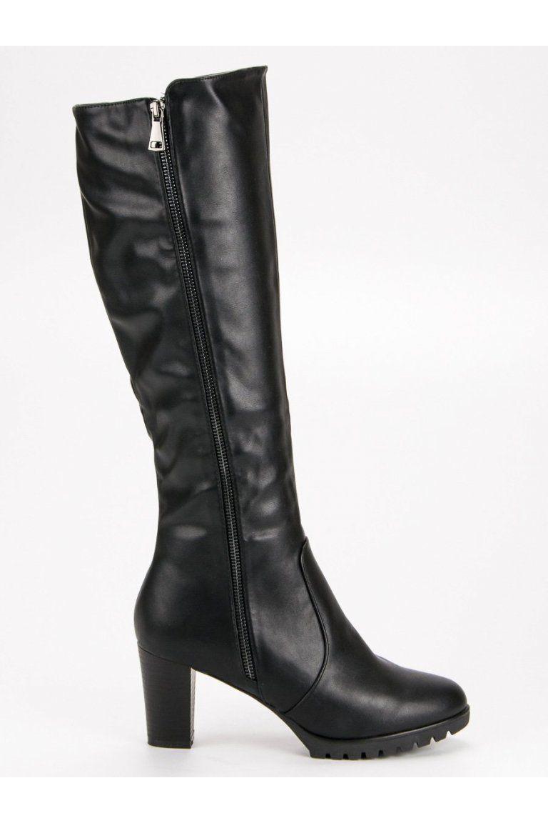 4e48e202205d Čierne čižmy pod koleno Super Me