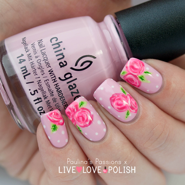 roses nail art | nails | Pinterest | Uñas hermosas, Diseños de uñas ...