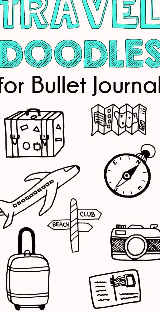 Easy bullet journal travel doodles Travel doodles travel doodles bullet journal travel doodles simpl