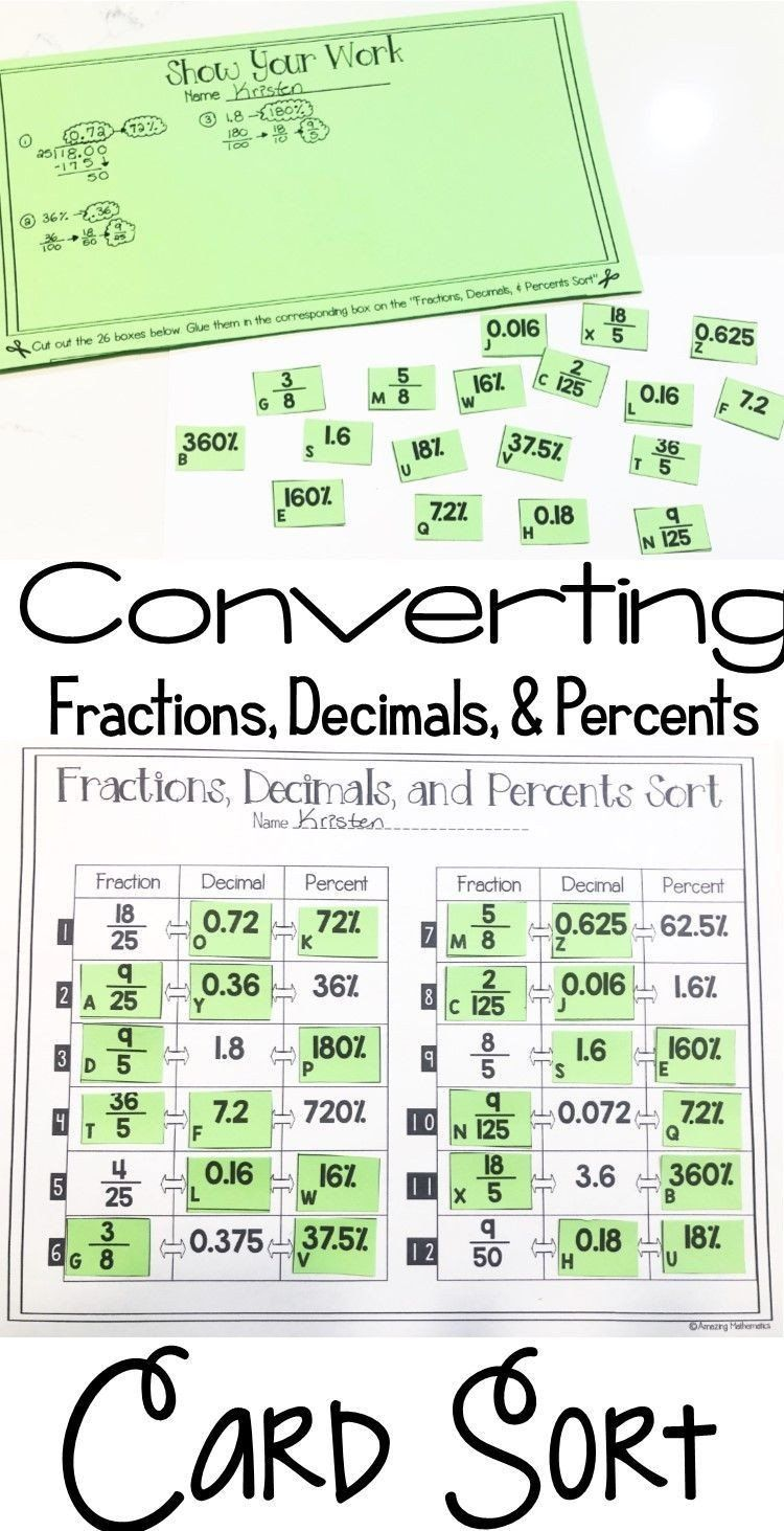 Fraction Attraction Math Worksheet Rational Numbers Worksheet Grade 7 Fractions Decimals And 7th Grade Math Converting Fractions Math Expressions