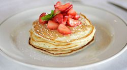 Buttermilk Pancakes with Strawberry