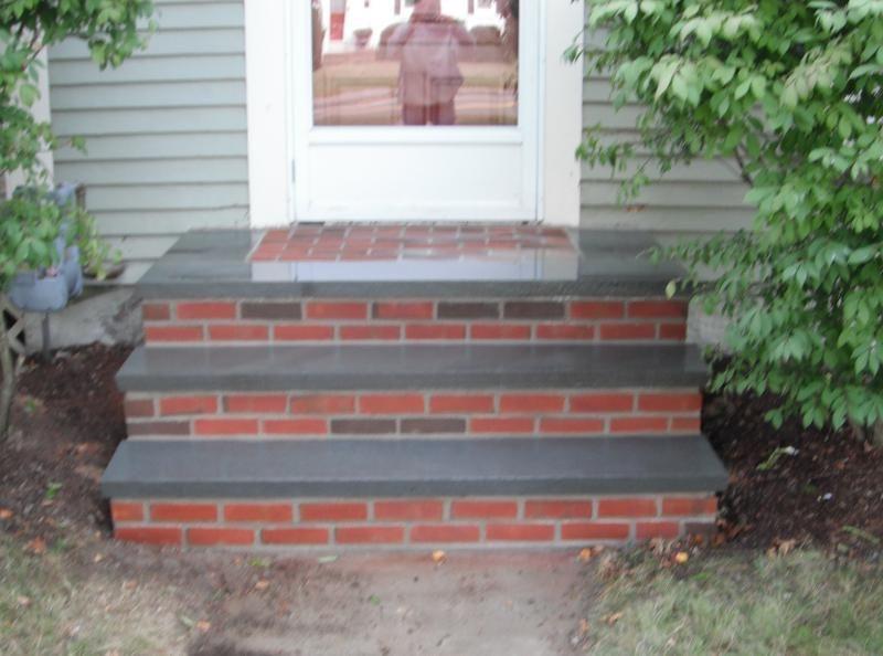 Brick And Bluestone Steps Masonry Services Front Porch Steps