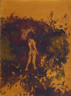 "Saatchi Art Artist Frederic Belaubre; Drawing, ""Nude in the Garden"" #art"
