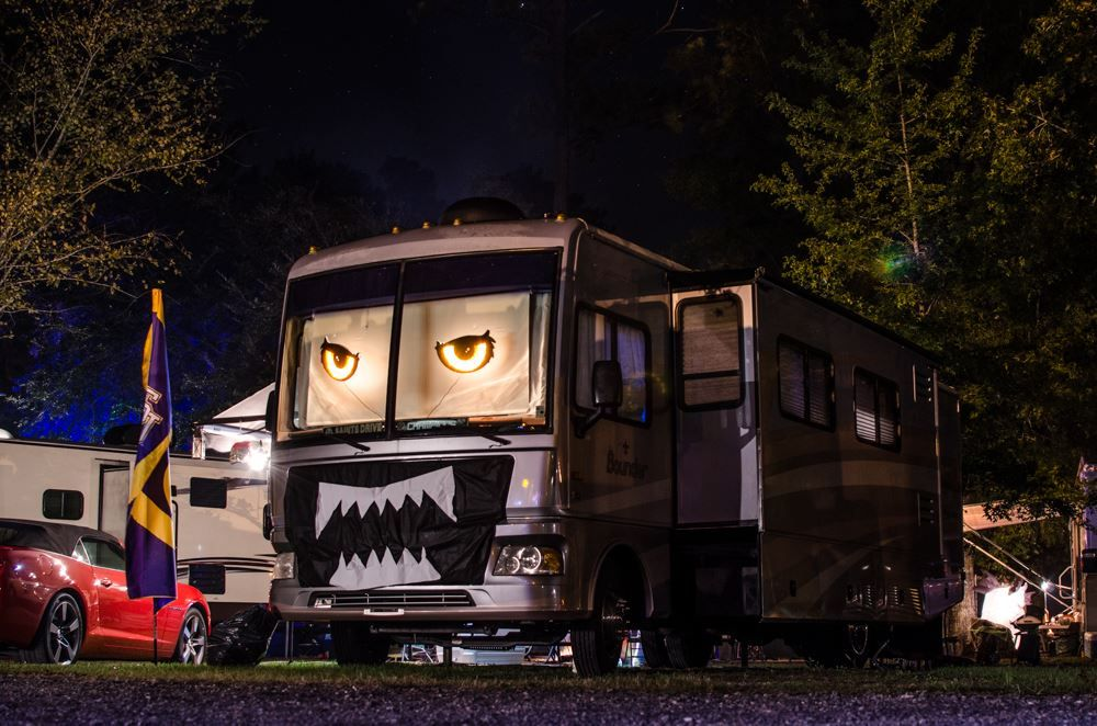 The Angry Rv Courtesy Of Jeffrey Eatley Halloween Camping Halloween Camping Decorations