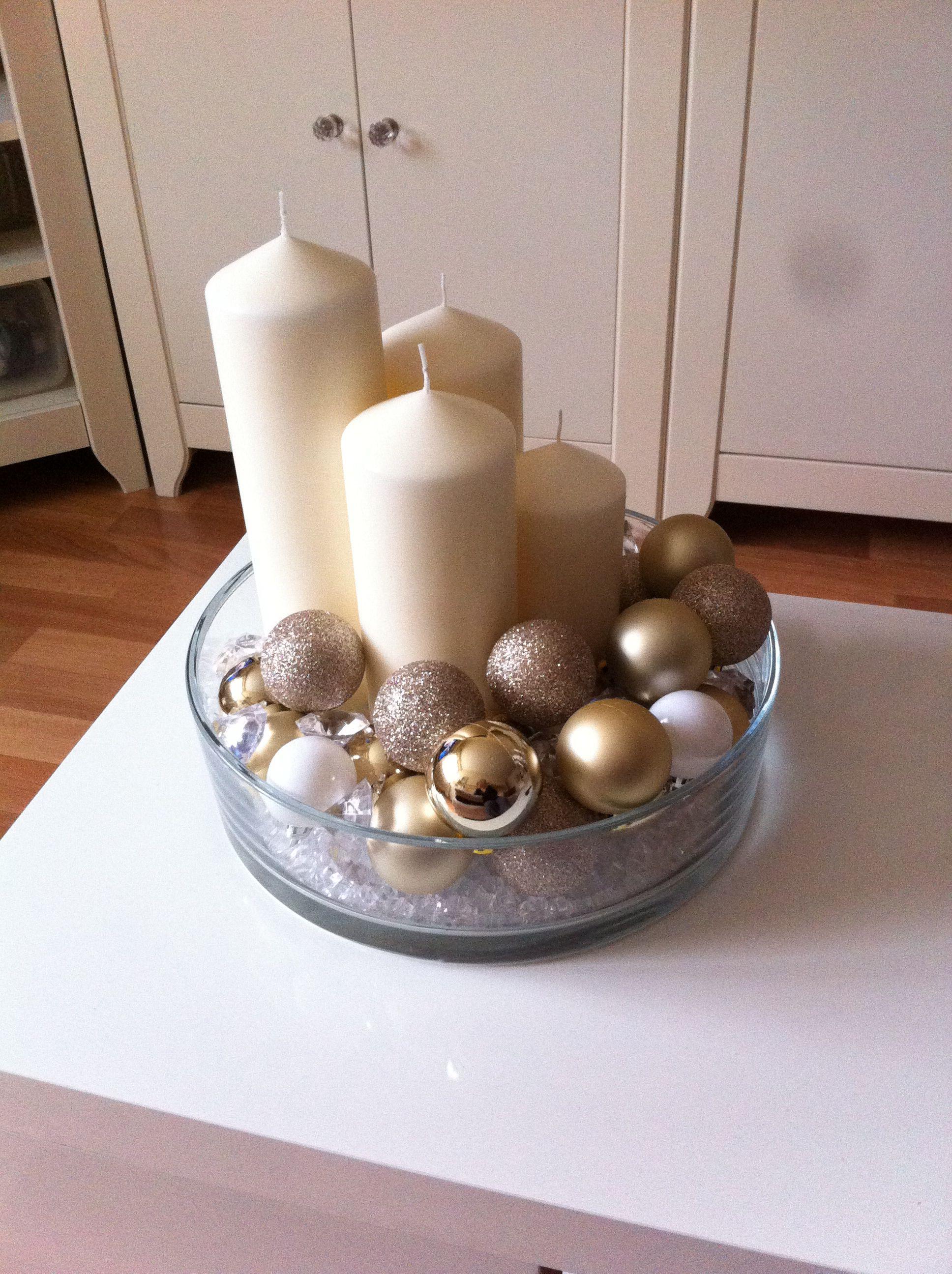 Adventskranz Stylish adventskranz beige gold weiss