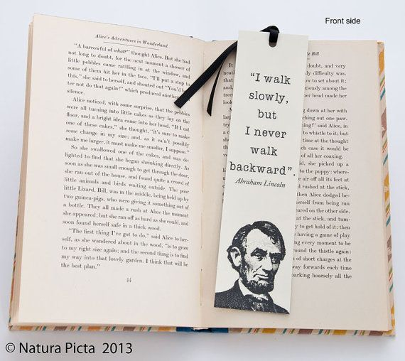 Abraham Lincoln quote bookmark size 196x787 inches by naturapicta