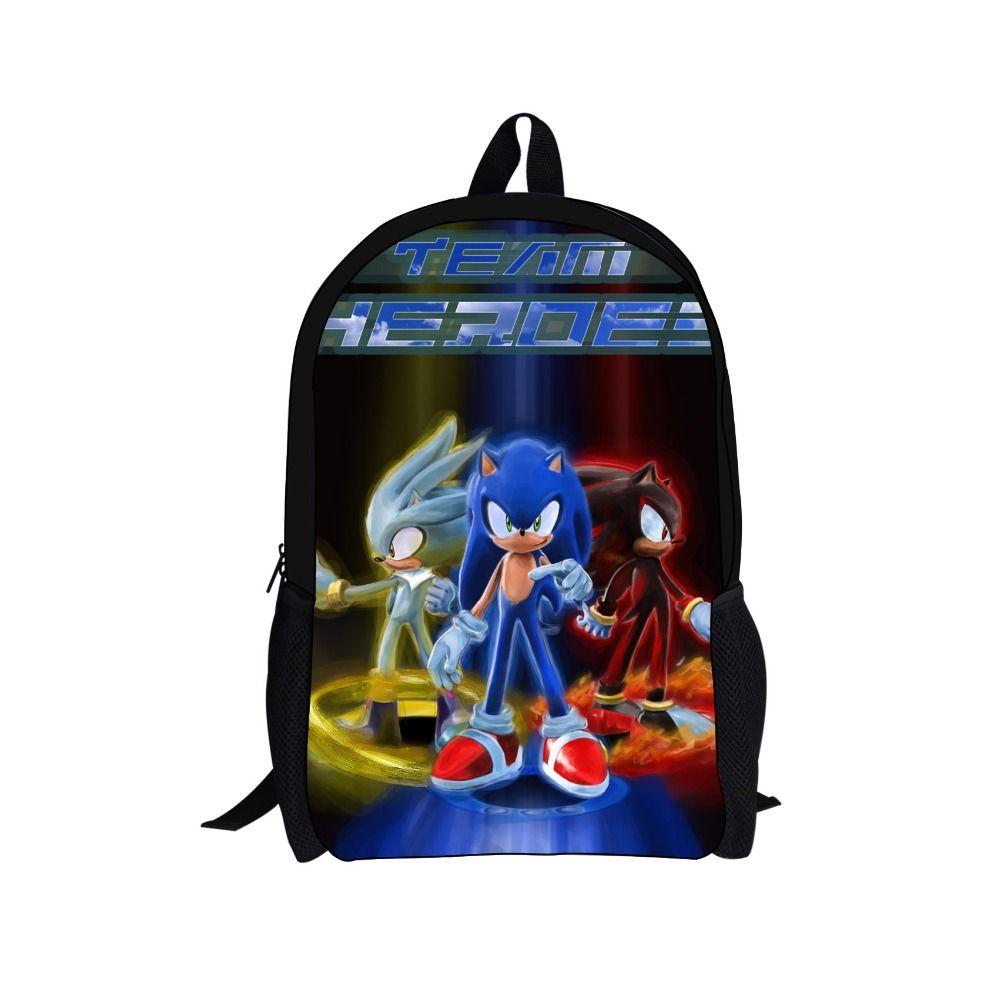 niños de Hedgehog mochila para the Caliente SEGA Cheap juego de Sonic dibujos impresión mochila q8HYPn5xw
