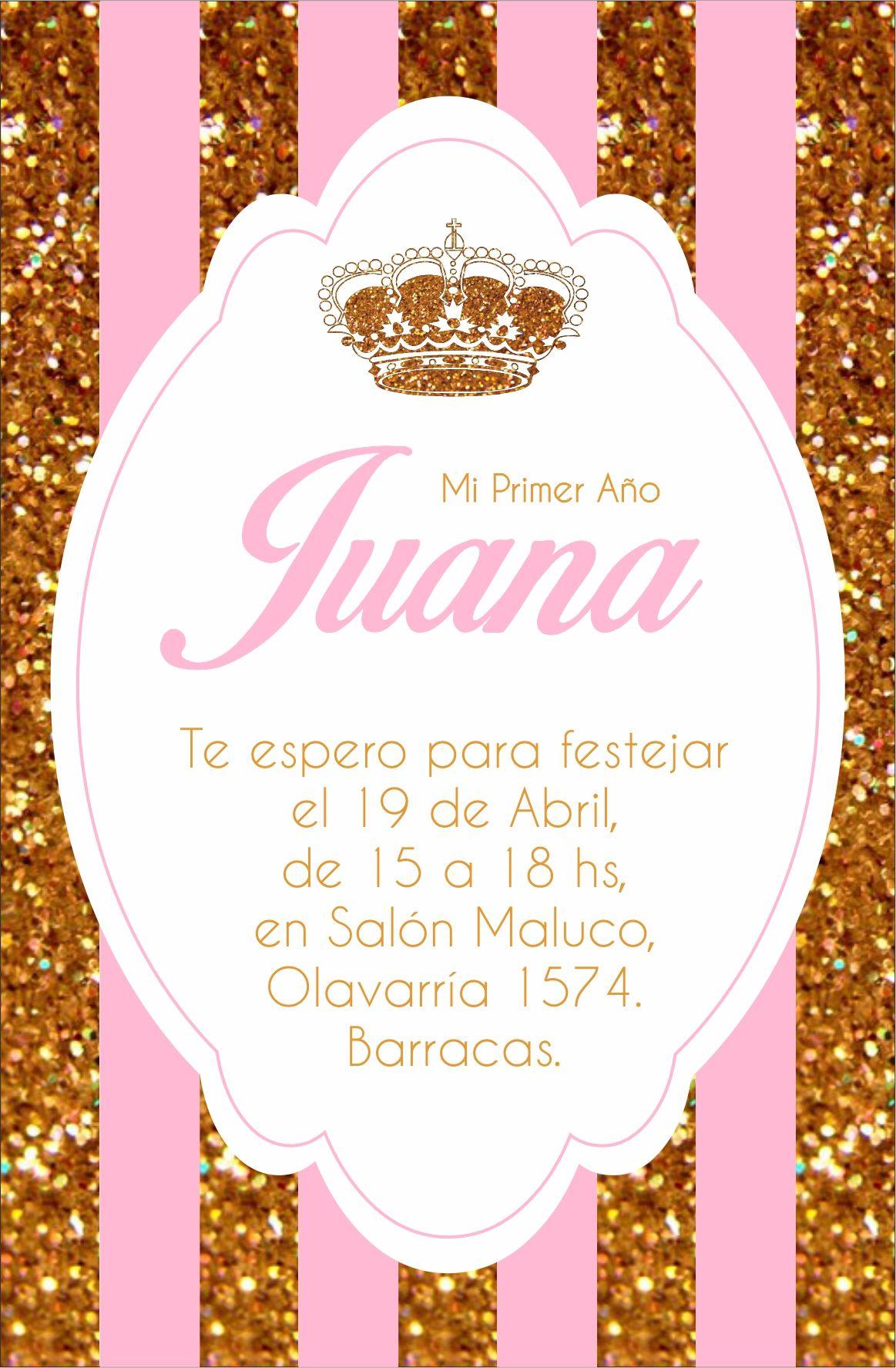 Invitación Corona Crown Royal Party Primer Año