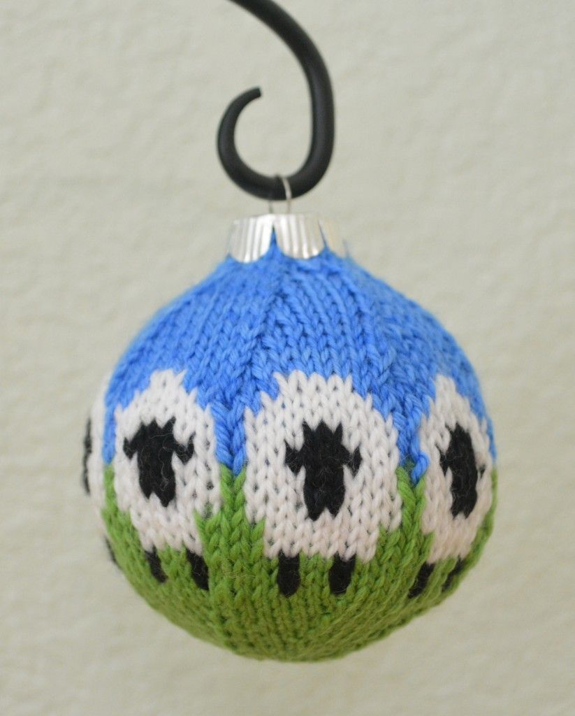 Free knitting pattern for sheep ornament ball and more sheep and ...