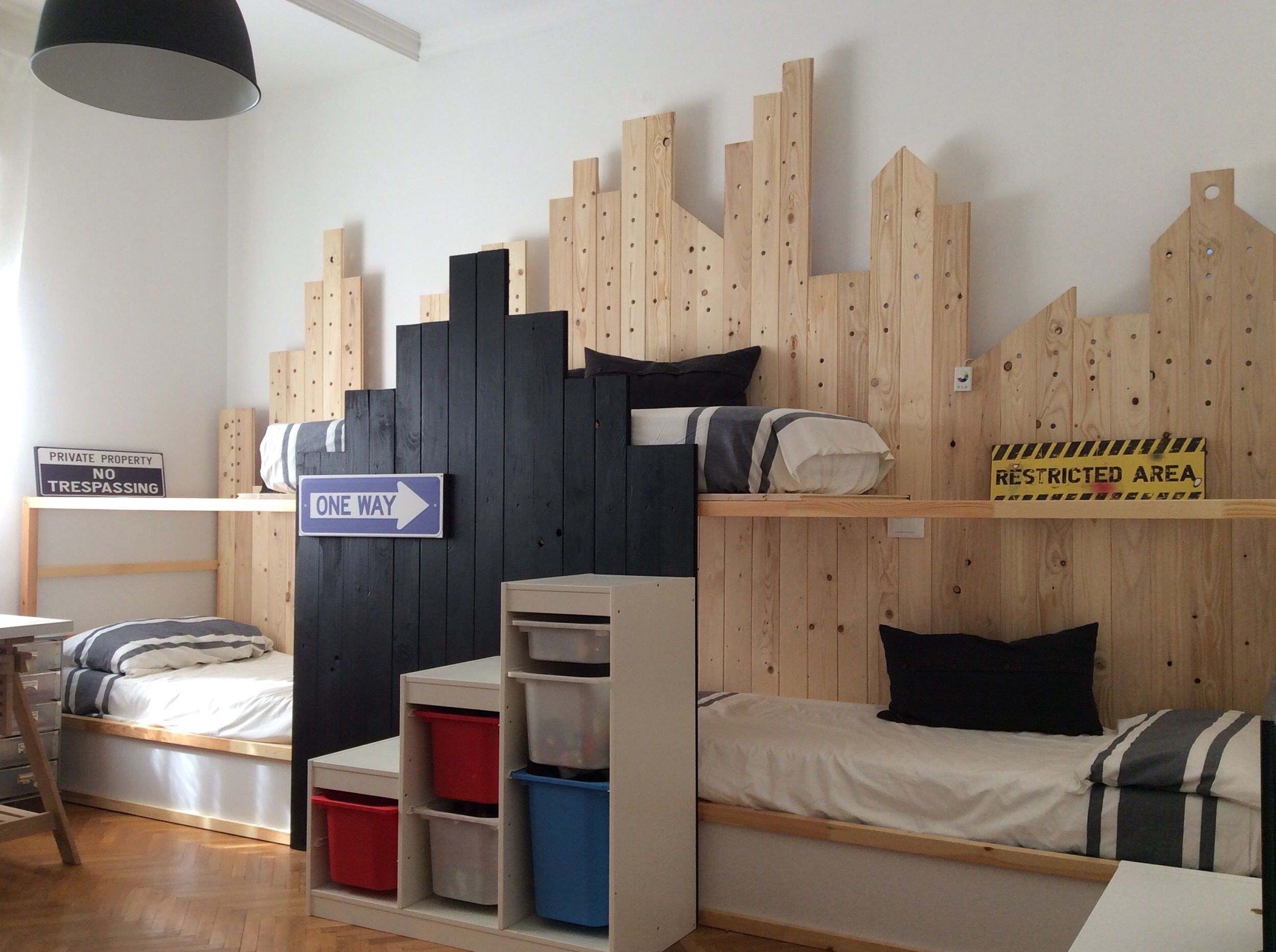 ikea kura hack - triple bunk bed | mommo design | grandkids ideas