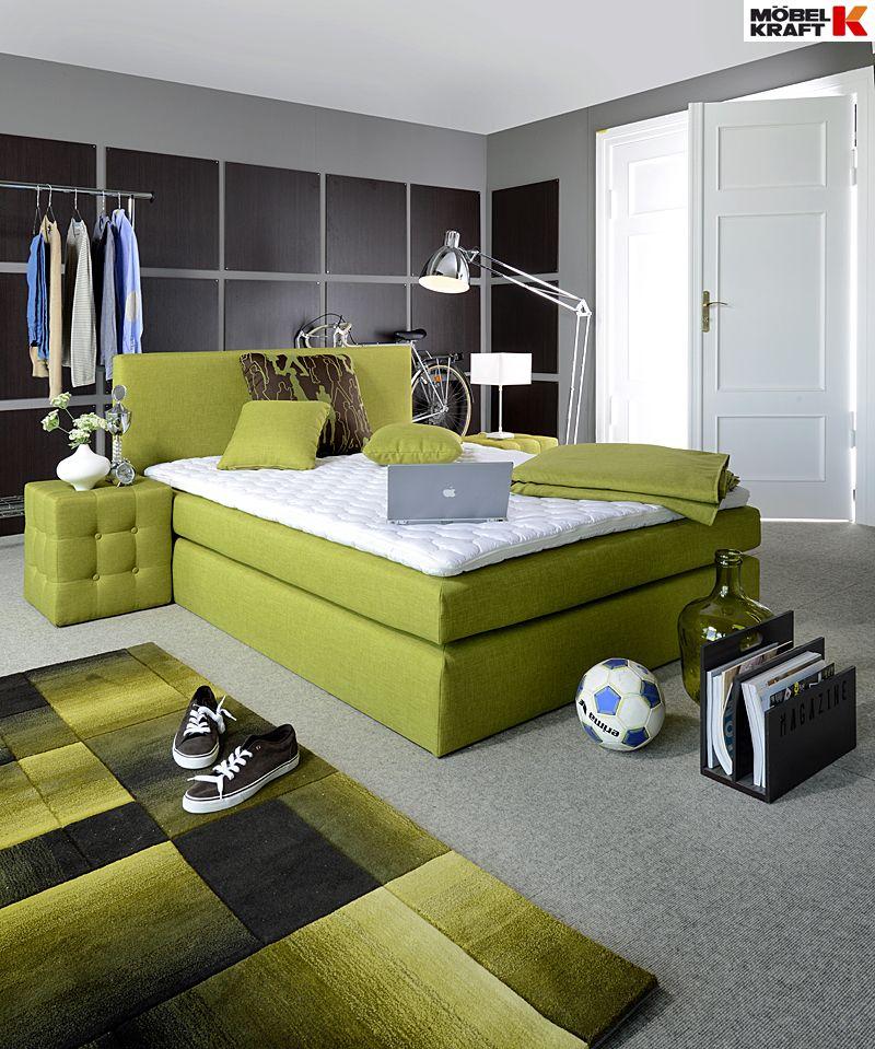 luxusschlaf im boxspringbett - entdeckt bei möbel kraft, Schalfzimmer deko