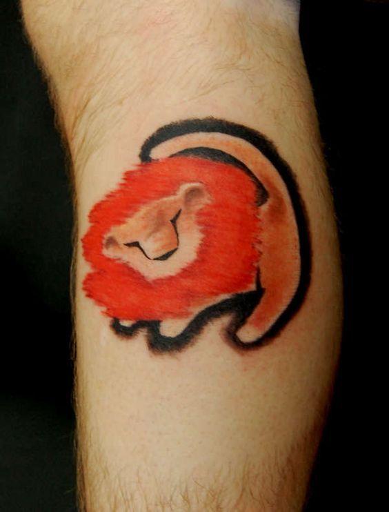 Tatuaggi ispirati al Re Leone della Disney