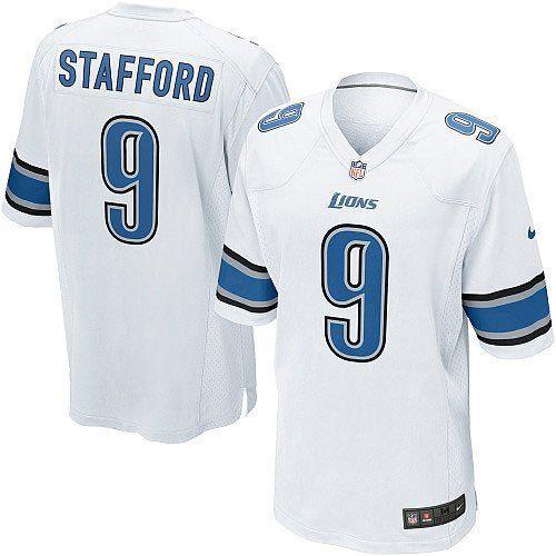 Men s Nike Detroit Lions  9 Matthew Stafford Elite White Jersey  129.99 6d056bd9d