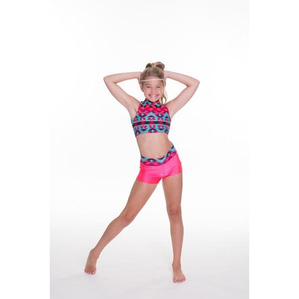 4a4a2af2294e81 Presley Set Booty Shorts and Fitted High Neck Dance Top 2 Piece ...