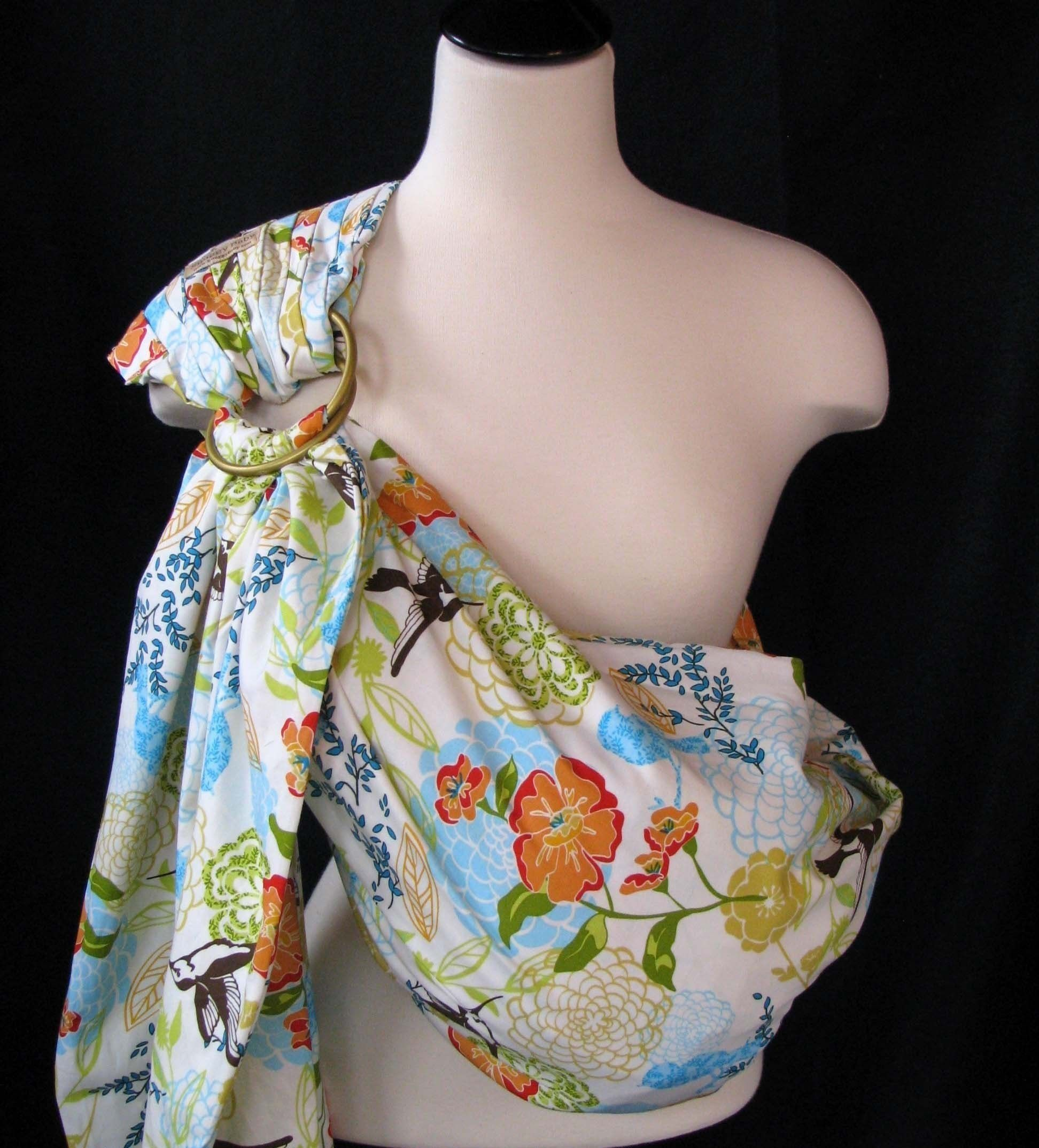 Baby Sling Ring Sling Baby Carrier - Botanical Garden - Instructional DVD Included - FAST SHIPPING. $49.00, via Etsy.