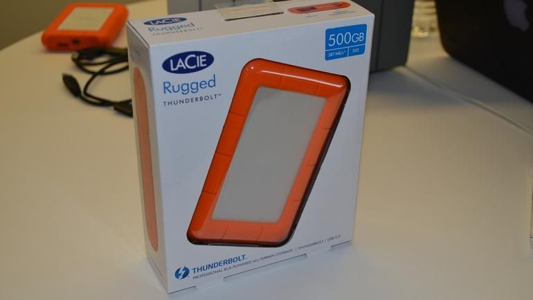 Lacie Rugged Thunderbolt All Terrain Portable Drive Review Rugged Design Meets Extreme Performance Thunderbolt Rugs Cnet