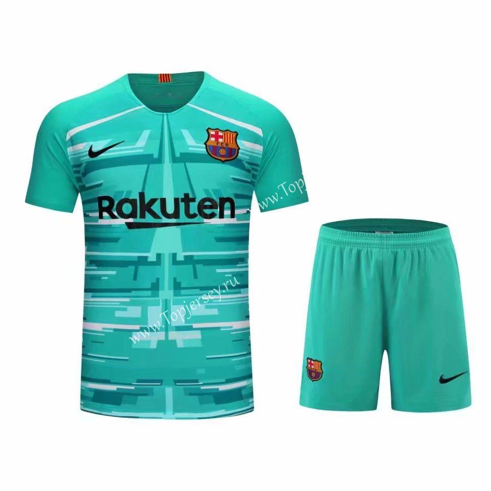 2019 2020 Barcelona Goalkeeper Green Thailand Soccer Uniform 418 Soccer Uniforms Soccer Football Sweater